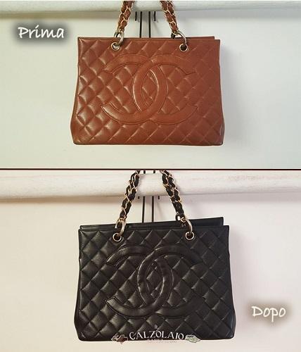 Restauro e colorazione Chanel prima e dopo
